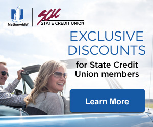 Exclusive Nationwide Insurance discounts for State Credit Union members. Click to learn more.